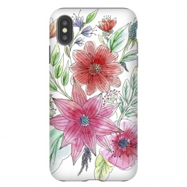 iPhone Xs Max  Wild flowers by  (watercolour,painting,ink,flowers,floral,artistic,garden,spring,botanical)