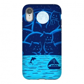 iPhone Xr  Cats Landscape by  (cats, cat, landscape, marine, summer, night, moon, nature, ocean, sea, spring break, stars)