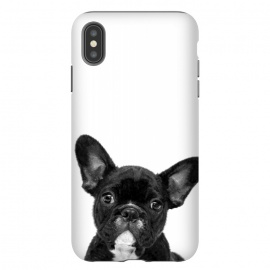 iPhone Xs Max  Black and White French Bulldog by Alemi