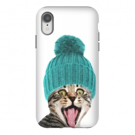 iPhone Xr  Cat with Hat Portrait by