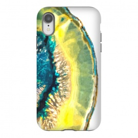 iPhone Xr  Blue and Yellow Agate by Alemi