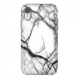 iPhone Xr  Black and White Marble by Alemi