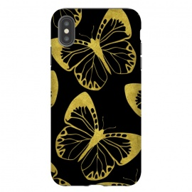 iPhone Xs Max  Gold Butterflies by Alemi