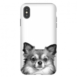 iPhone Xs Max  Black and White Chihuahua Portrait by Alemi