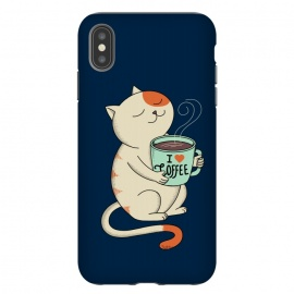 iPhone Xs Max  Cat and Coffee 2 by Coffee Man (cat, cats,animal, animals,pet, pets, kitty, pet lover, animals lover, coffee, coffee lover, cute, adorable)