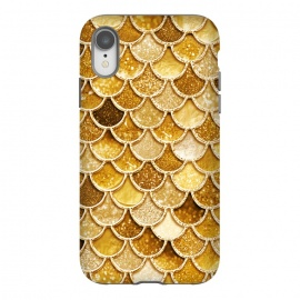 iPhone Xr  Faux Gold Glitter Mermaid Scales by Utart