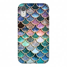 iPhone Xr  Multicolor Spring Mermaid Scales by Utart