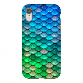 iPhone Xr  Green & Blue Glitter Mermaid Scales by