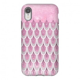 iPhone Xr  Multicolor Pink & Silver Gray Mermaid Scales by Utart
