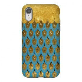 iPhone Xr  Multicolor Teal & Gold Mermaid Scales by Utart