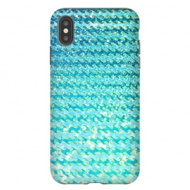iPhone Xs Max  Sea Ocean Blue Sparkle Glitter Waves by Utart