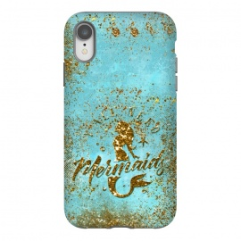 iPhone Xr  We all need mermaids - Teal and Gold Glitter Typography  by Utart