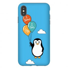 iPhone Xs Max  Penguin I Believe I Can Fly by Coffee Man