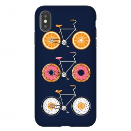 iPhone Xs Max  Food Bicycle 2 by Coffee Man (bike, bicycle, bicy, sport, ride, velocity, food, sushi, orange, donut, cute, adorable, fun, funny, humor, kid, kids,children)