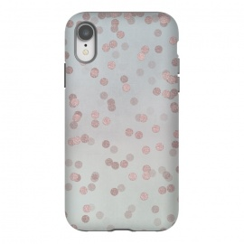 iPhone Xr  Rose Gold Glitter Dots by Andrea Haase