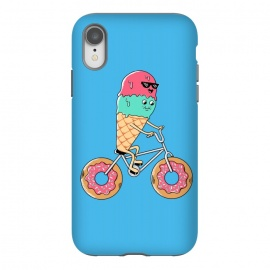 Donut Bicycle Blue by Coffee Man (biker, bicycle,bicy, donut, donuts, ice cream, summer, spring break, fun, funny, humor, cute, adorable,kawaii,sweet,kid,kids)