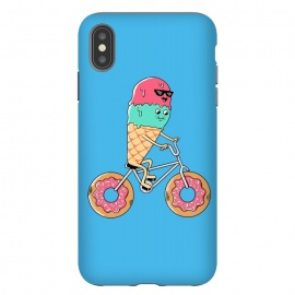 iPhone Xs Max  Donut Bicycle Blue by Coffee Man