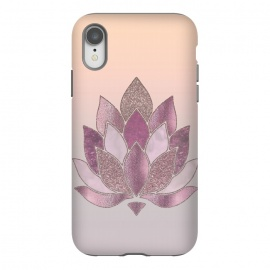 iPhone Xr  Shimmering Lotus Flower Symbol by Andrea Haase