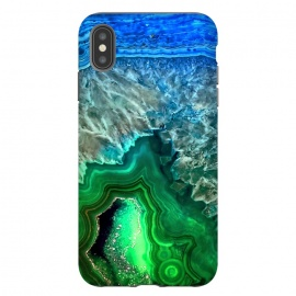 iPhone Xs Max  Blue and Green Agate  by Utart