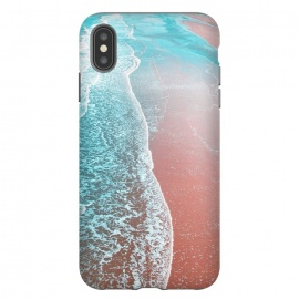 iPhone Xs Max  Sea Blue and Rose Gold by Uma Prabhakar Gokhale (graphic design, paint filter, paint effect, digital manipulation, ocean, nature, waves, sea, landscape beach, island, tropical, california, blue, copper, rose gold)