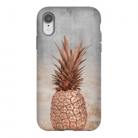 iPhone Xr  Rose Gold Pineapple and Marble by Utart