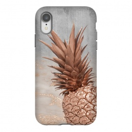 iPhone Xr  Rose Gold Pineapple on Congrete by Utart