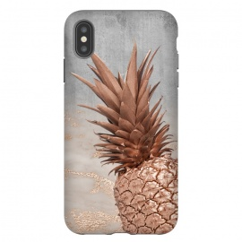 iPhone Xs Max  Rose Gold Pineapple on Congrete by Utart