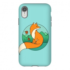 iPhone Xr  Fox and Landscape by Coffee Man
