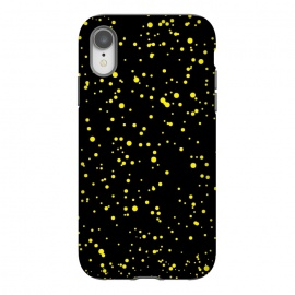 iPhone Xr  YELLOW DOTS PATTERN by MALLIKA