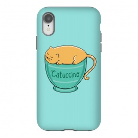 iPhone Xr  Cattuccino by Coffee Man (cat, cats, cat lover, pet, pets, pet loevr, animals, animal, coffee, capuccino,coffee lover,cup,cute,adorable,fun,funny,kitty)