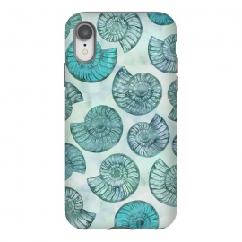 iPhone Xr  Teal Fossils And Ammonites by Andrea Haase