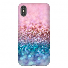 iPhone Xs Max  Teal and Rose Gold Glitter Dance by Utart