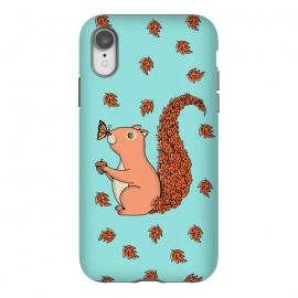 iPhone Xr  Squirrel and Butterfly by Coffee Man