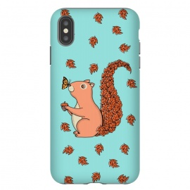 iPhone Xs Max  Squirrel and Butterfly by Coffee Man