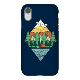 Mountain Diamond by Coffee Man (landscape, forest, outdoors,mountain, sun, tree,diamond, river, nature, adventure,minimalism,geometric,camp, camping, male, man, boy, explore)
