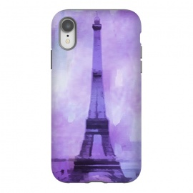 iPhone Xr  Purple Paris Watercolor  by Andrea Haase