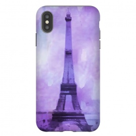 iPhone Xs Max  Purple Paris Watercolor  by Andrea Haase