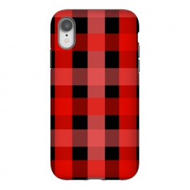 iPhone Xr  red black checks by MALLIKA