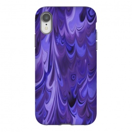 iPhone Xr  Purple Faux Marble by Andrea Haase
