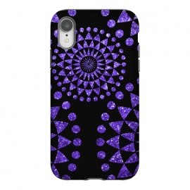 iPhone Xr  Black And Purple Glamour  by Andrea Haase