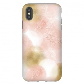 iPhone Xs Max  Gold and Pink Blush Dots by Utart