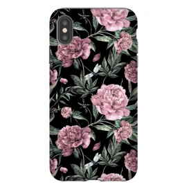 Black and Pink Peony Pattern by Utart
