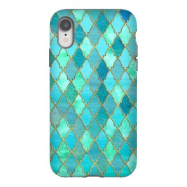 iPhone Xr  Teal Moroccan Shapes Pattern  by Utart
