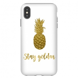 iPhone Xs Max  Stay Golden Precious Pineapple by Andrea Haase