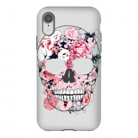 iPhone Xr  Famous When Dead by Uma Prabhakar Gokhale (graphic design, floral, nature, skull, botanical, famous, fame, face, dead, scary)