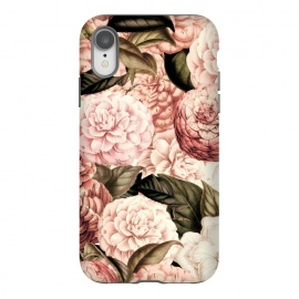iPhone Xr  Pink Vintage Camelia Pattern by Utart