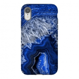 iPhone Xr  Night Blue Agate by Utart
