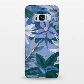 Galaxy S8+  Blue Purple Aloha Tropical Jungle  by Utart