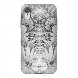 iPhone Xr  Grey White Florish Fractal by