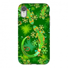 iPhone Xr  Gecko Lizard Colorful Tattoo Style by BluedarkArt